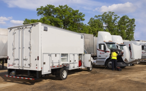 The WorkPro is Morgan's newest mobile fleet service offering. (Photo: Business Wire)