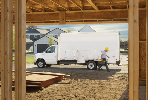 The WorkPro is ergonomically designed with plenty of headroom, interior cargo space, and exterior storage compartments that provide quick and easy access to the parts and equipment needed on difficult job sites. (Photo: Business Wire)