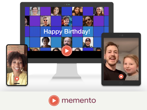 Memento makes it easy to record, make & preserve memories (Photo: Business Wire)