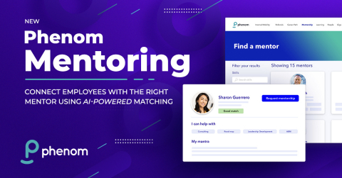 Phenom Mentoring is an innovative product that connects employees and experienced leaders seeking a mentor-mentee relationship (Photo: Business Wire)