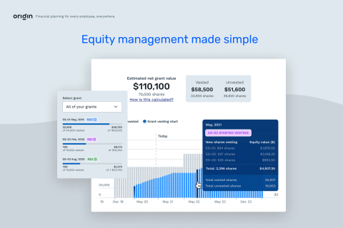 Origin Launches Equity Manager to Demystify the Ins and Outs of Employee Equity Compensation (Graphic: Business Wire)