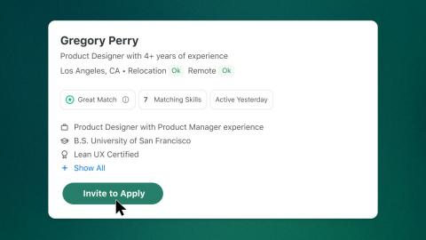 ZipRecruiter's 'Invite to Apply' is a transformational AI-powered smart hiring tool that delights job seekers and gives more control to hiring managers. (Graphic: Business Wire)