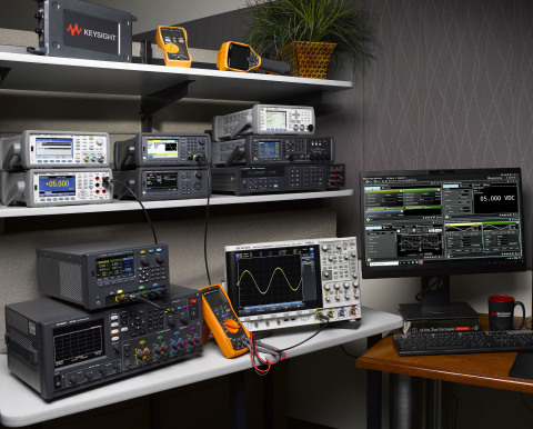 Examples of Keysight's popular products and solutions (Photo: Business Wire)