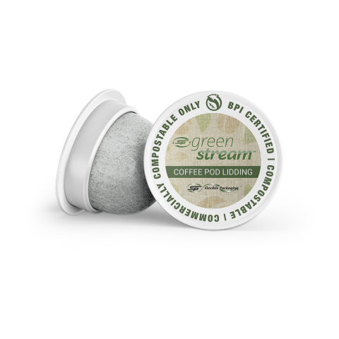 BPI-certified compostable coffee pod lidding film - only available from C-P Flexible Packaging (Photo: Business Wire)