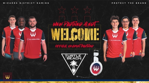 Turtle Beach joins forces with NBA 2K League Champions Wizards District Gaming, who will be using the brand's Elite Pro 2 performance gaming headset as they continue to dominate the digital hardwood. (Photo: Business Wire)