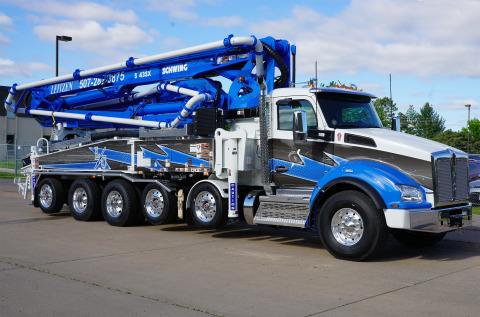 The newly designed chassis for S 43 SX and S 47 SX III allows boom pump operators to drive on roads and highways with Minnesota seven-ton weight restrictions when spring frost laws are enforced. (Photo: Business Wire)