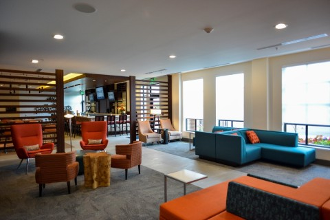 Odds of winning a seat in the spacious lobby: 7-2! (Photo: Business Wire)