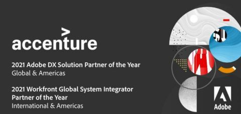 Accenture receives Partner of the Year Awards from Adobe. (Graphic: Business Wire)