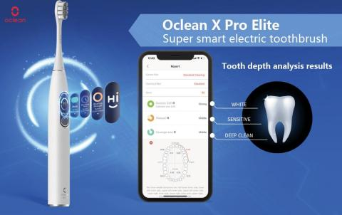 Oclean X Pro Elite Ushers in Era of Deep Smart Electric Toothbrush in 2021 (Photo: Business Wire)