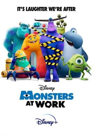 """""""Monsters at Work"""" takes place the day after the Monsters, Incorporated power plant started harvesting the laughter of children to fuel the city of Monstropolis, thanks to Mike and Sulley's discovery that laughter generates ten times more energy than screams. (Photo: Disney+)"""