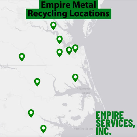 Empire Metal Recycling Locations as of June 14, 2021 (Graphic: Business Wire)