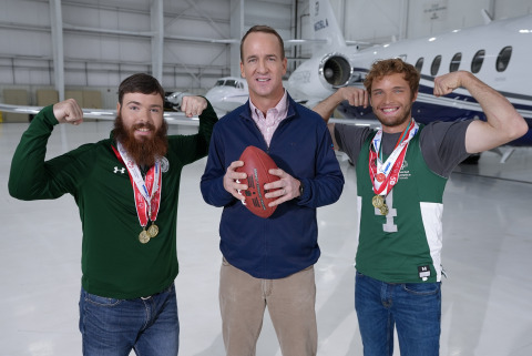 Peyton Manning joins Textron Aviation to promote the 2022 Special Olympics Airlift. (Photo: Business Wire)