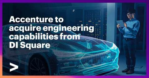 Accenture will acquire DI Square's consulting capabilities for PLM and ALM systems integration — strengthening the engineering expertise of its Industry X group for automotive and other manufacturing clients. (Graphic: Business Wire)