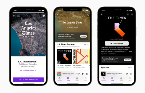 Apple Podcasts Subscriptions and channels are available for listeners starting today. (Photo: Business Wire)
