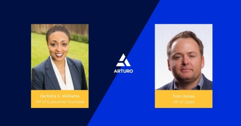 De'Edra S. Williams & Tom Jones, Arturo's vice president of customer success and vice president of sales (Photo: Business Wire)