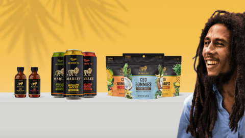 Docklight Brands is bringing Bob Marley's belief in the positive potential of the herb to consumers worldwide through Marley™ CBD, which offers a wide range of high quality, CBD-infused products. For more information, please visit enjoymarleycbd.com (Graphic: Business Wire)