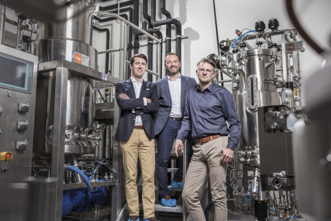 The c-LEcta management team (from left to right Thomas Pfaadt, CFO, Carsten Fietz, Senior Vice President Finance and Administration, Dr. Marc Struhalla, Founder and CEO) Image: c-LEcta