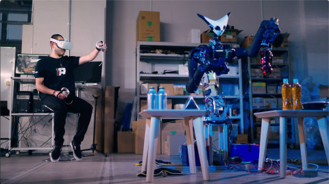 Telexistence's Model-T Robot undergoing testing in-studio. (Credit: Telexistence)