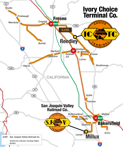Genesee & Wyoming Inc. today announced its newly formed subsidiary, Ivory Choice Terminal Co. (ICTC), has acquired the facility formerly known as the Port of Ivory. ICTC is a subsidiary of Rail Link, G&W's contract rail and related services division, and will be operated as a G&W Choice Terminal™ bulk transfer facility. (Graphic: Business Wire)