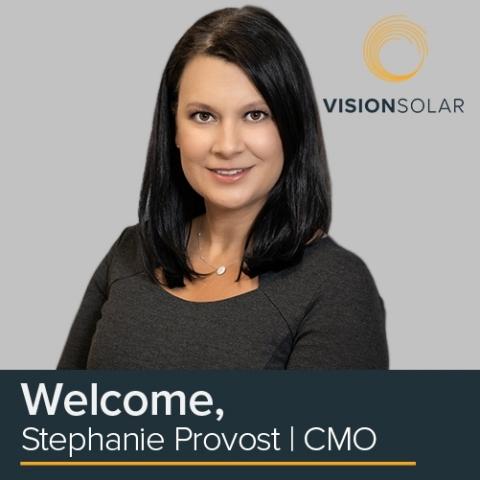 Stephanie Provost, CMO - Vision Solar (Photo: Business Wire)