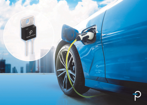 Power Integrations Automotive-Qualified Qspeed Silicon Diodes Feature Lowest Qrr for Efficient, High-Switching-Speed Designs. These 600 V 12 A diodes can replace SiC components in automotive applications. (Graphic: Business Wire)