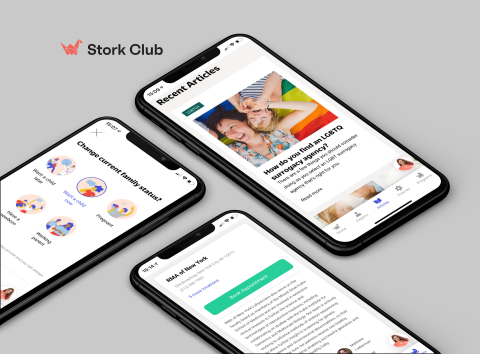 Employers add Stork Club to their health plan to fill out gaps in their fertility and maternity care to support their people at every stage of their family-building journey. Covered employees and their dependents access Stork Club web and mobile apps to get recommendations and care relevant to their current family goals: whether they plan to have a child later, now, are already expecting or returning back to work. (Photo: Business Wire)