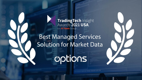Options Announced as Best Managed Services Solution for Market Data at TradingTech Insights USA Awards (Photo: Business Wire)