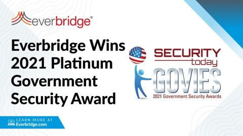Everbridge Wins 2021 Platinum Govies Award from Security Today Magazine in the Security & Risk Intelligence Category (Photo: Business Wire)