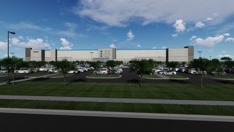 Rendering of Amazon Fulfillment Center in Baton Rouge, LA (Photo: Business Wire)