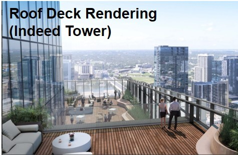 Roof Deck Rendering (Indeed Tower) (Photo: Business Wire)