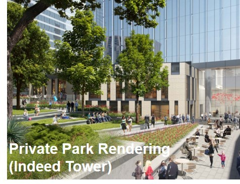 Private Park Rendering (Indeed Tower) (Photo: Business Wire)