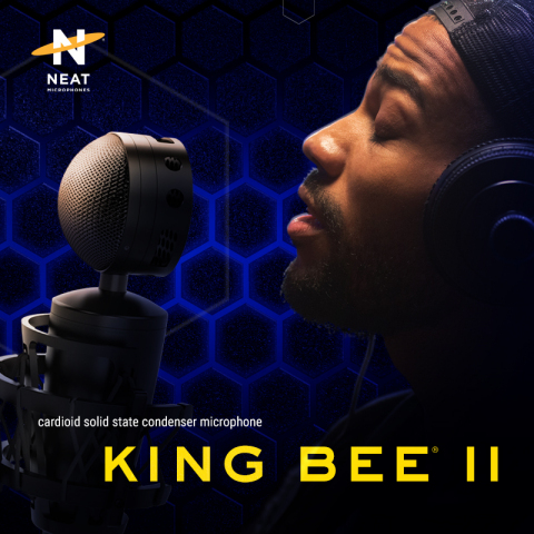 What you hear at the output is what the King Bee II hears at its input. Neat Microphones' King Bee II is coming summer 2021 for a MSRP of $169.99. (Graphic: Business Wire)