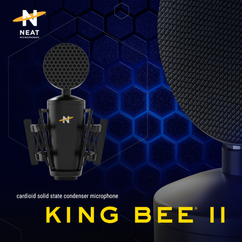 The Neat King Bee II XLR microphone. $169.99. Coming summer 2021. (Graphic: Business Wire)