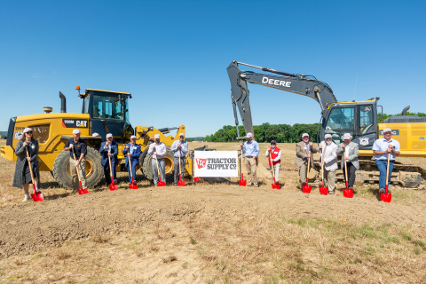 Tractor Supply executives, local government officials and development partners break ground on the Company's new distribution center in Navarre, Ohio. (Photo: Business Wire)
