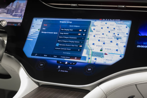 In-vehicle navigation within the MBUX headunit. Photo credit: Mercedes-Benz USA.