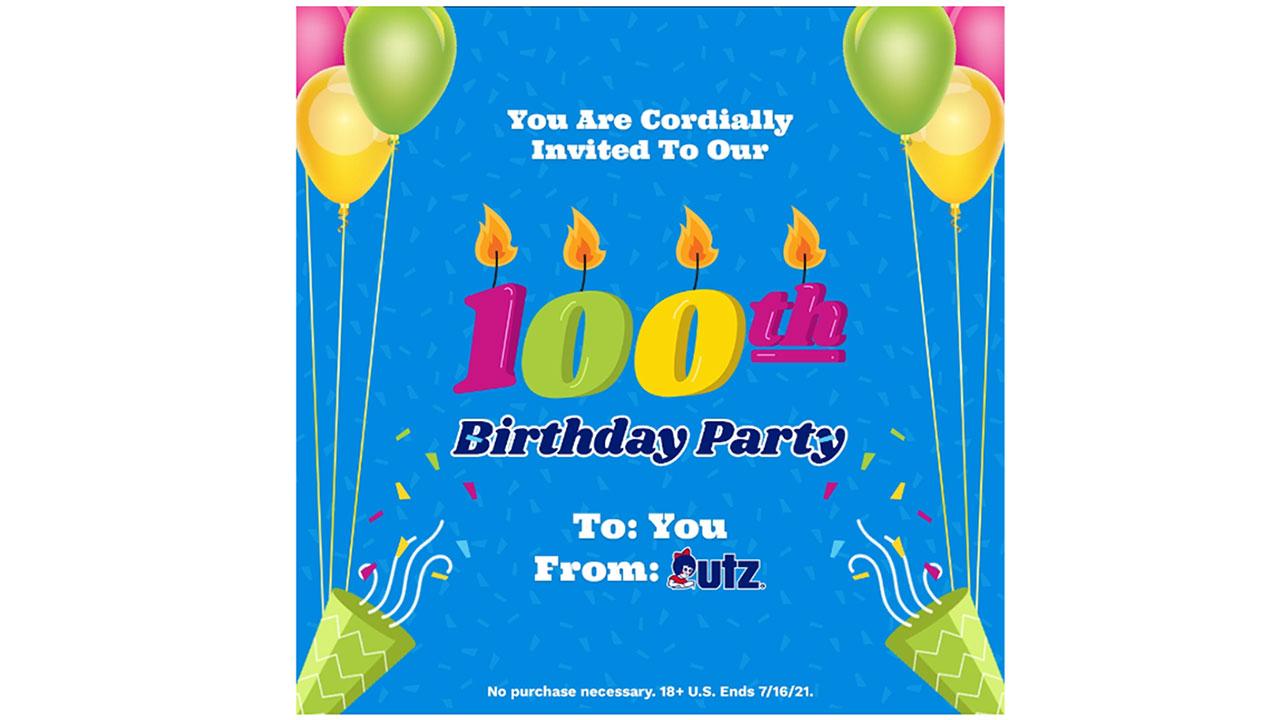 Celebrate 100 Years with Utz! Source: Utz Brands, Inc.