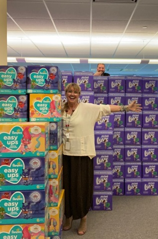 The Second Annual NWFCU Foundation Diaper Drive Increased Donations by 148% (Photo: Business Wire)
