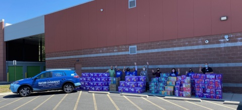 Over 124,000 Diapers Were Donated to the Second Annual NWFCU Foundation Diaper Drive (Photo: Business Wire)