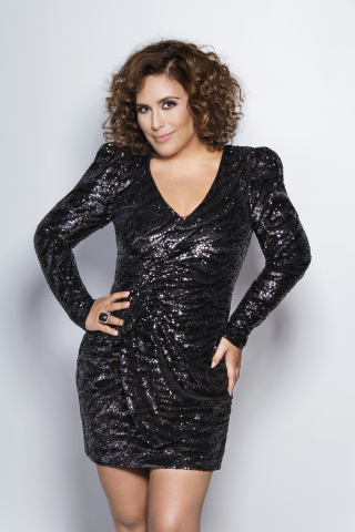 """ANGÉLICA VALE, HOST OF ESTRELLATV'S """"LA MÁSCARA DEL AMOR"""" (THE MASK OF LOVE), AND CALI 93.9 ON-AIR PERSONALITY, NAMED TO 2022 HOLLYWOOD WALK OF FAME, Photo by Omar Cruz, courtesy of Estrella Media"""