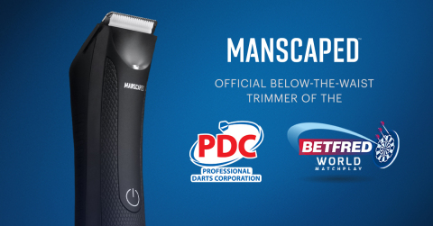MANSCAPED continues to diversify its sports marketing portfolio with the addition of the UK's legendary world of competitive darts. (Graphic: Business Wire)