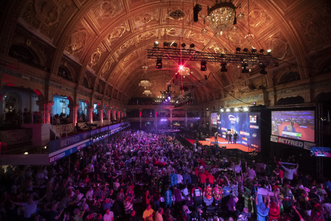 We love a good return. Fans in fancy dress will head to Blackpool's Winter Gardens next month for the World Matchplay Darts Championship. (Photo: Business Wire)