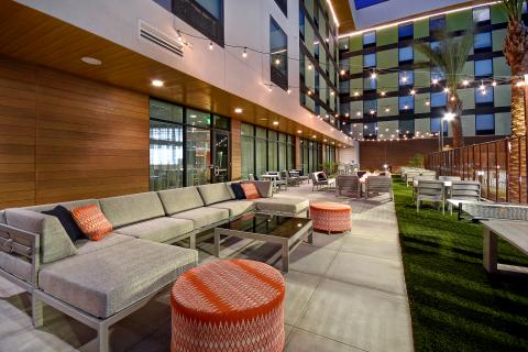 Hampton Inn & Suites-Home2 Suites by Hilton Las Vegas Convention Center - Outdoor Patio (Photo: Business Wire)