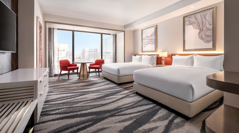 Conrad Las Vegas at Resorts World - Queen Guestroom Strip View (Photo: Business Wire)