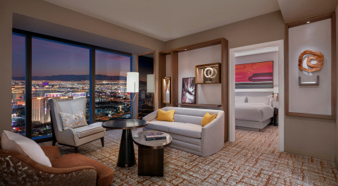 Las Vegas Hilton at Resorts World - Guestroom Suite (Photo: Business Wire)