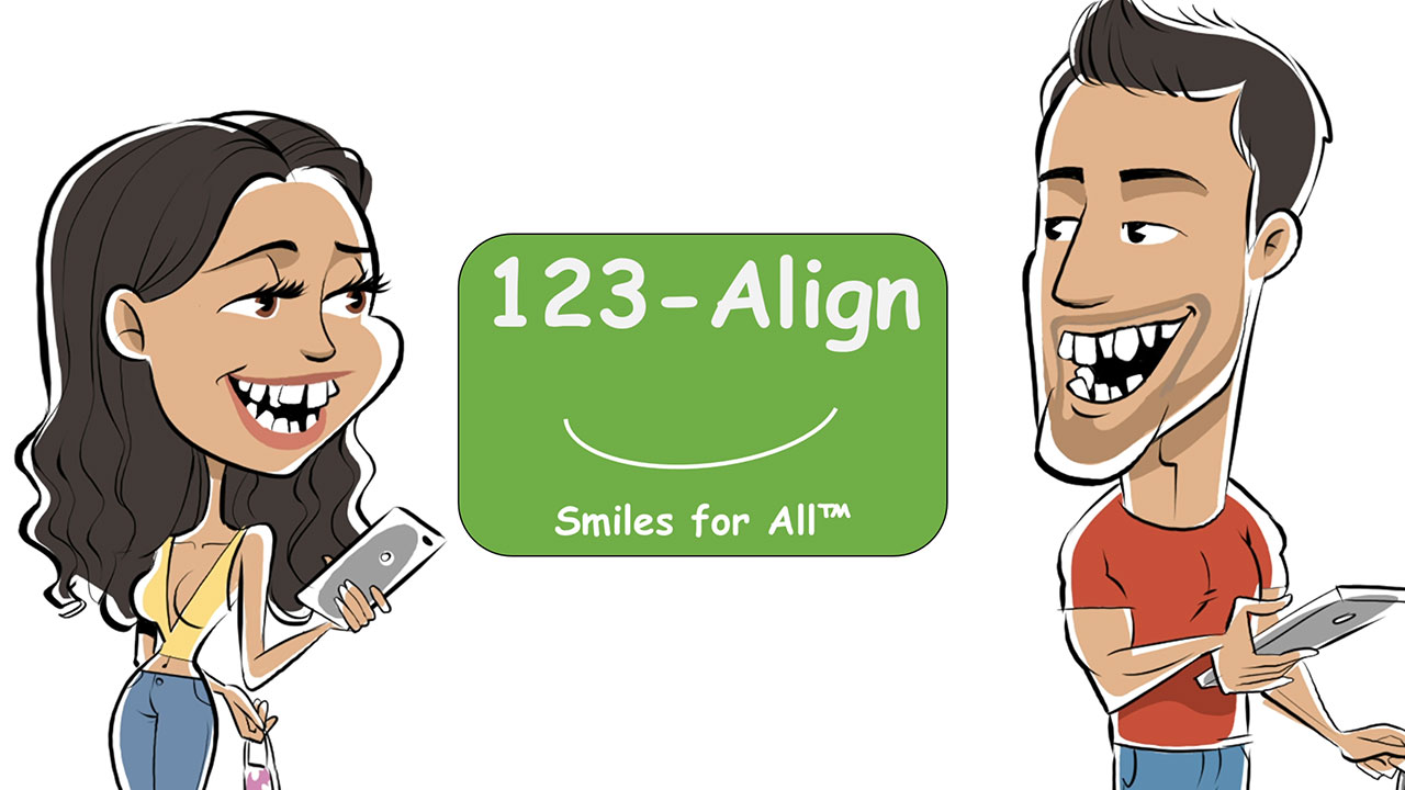 Are you hiding your smile behind a mask? When your teeth are crooked, it's hard to share a smile. You're not alone. Braces and aligners are so expensive that you might want to hide forever. Luckily for these two, they found 1-2-3 Align. Where they got two new smiles for the price of just one set of liners from the leading competitor. You don't need to hide your smile anymore. 1-2-3 Align… Smiles for All.