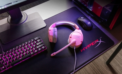 HyperX Adds Pink Colorway to Cloud Stinger Gaming Headset Line (Photo: Business Wire)