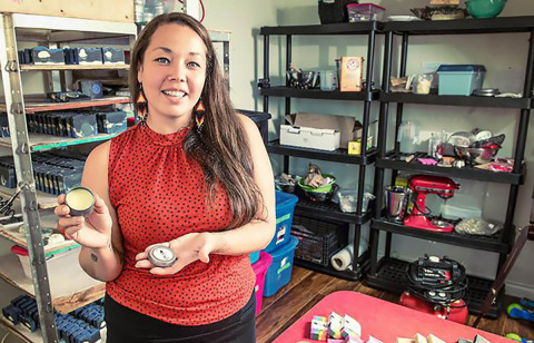Photo: Lynn-Marie Angus, Founder of Vancouver-based Sister's Sage and 2020 Pow Wow Pitch Winner. (Photo: Business Wire)