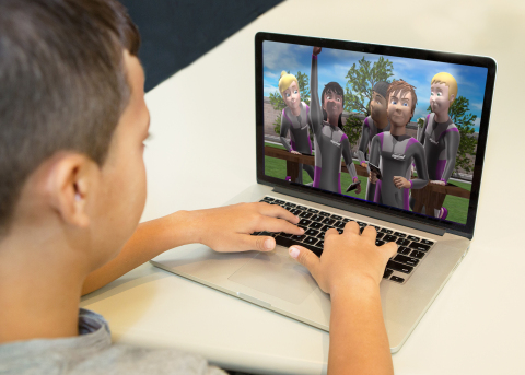 A Child Playing the SAS Video Game (Photo: Business Wire)