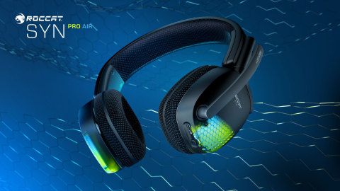 Experience fully immersive 3D surround sound, wireless connectivity, premium game audio, and ultimate comfort with the all-new ROCCAT Syn Pro Air PC gaming headset. Available now at participating retailers worldwide for a MSRP of $149.99. (Graphic: Business Wire)