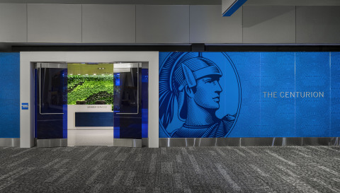 Entryway to The Centurion Lounge at LaGuardia Airport (Photo: Business Wire)